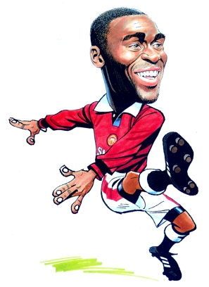 Andy Cole Caricature