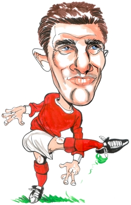 Bill Foulkes Caricature