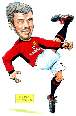 David Beckham Caricature