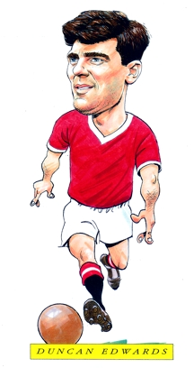 Duncan Edwards Caricature