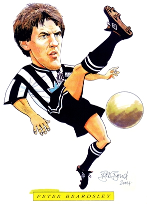 Peter Beardsley Caricature