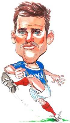David Nugent Caricature