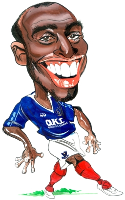 Sol Campbell Caricature