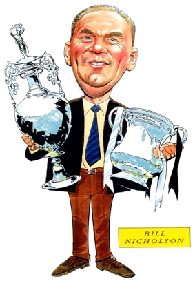 Bill Nicholson Manager Caricature