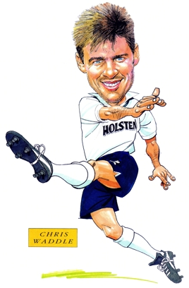 Chris Waddle Caricature