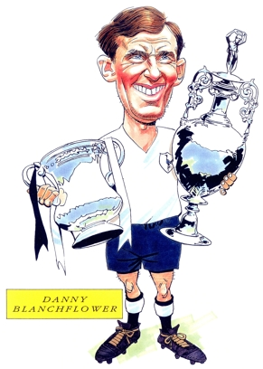 Danny Blanchflower Caricature