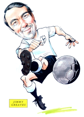 Jimmy Greaves Caricature