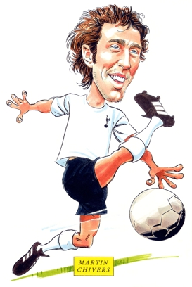Martin Chivers Caricature