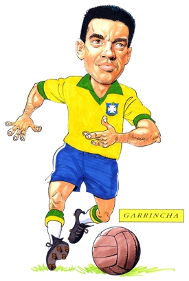 Garrincha Caricature