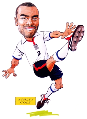 Ashley Cole Caricature