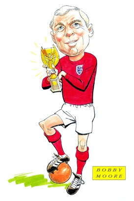 Bobby Moore Caricature