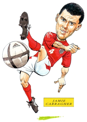Jamie Carragher Caricature