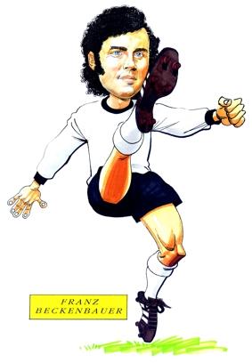 Franz Beckenbauer Caricature