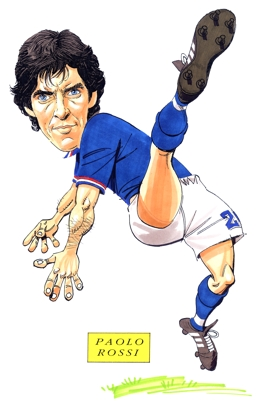 Paolo Rossi Caricature