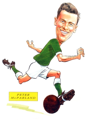Peter McParland Caricature
