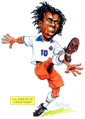 Clarence Seedorf Caricature
