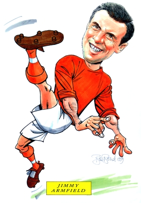 Jimmy Armfield Caricature