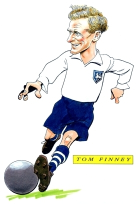 Tom Finney Caricature