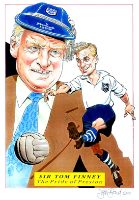 Tom Finney Special Caricature