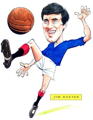 Jim Baxter Caricature