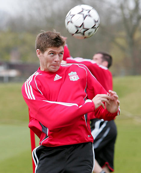 Steven Gerrard training