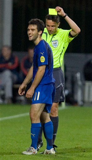 Giuseppe Rossi Yellow Card