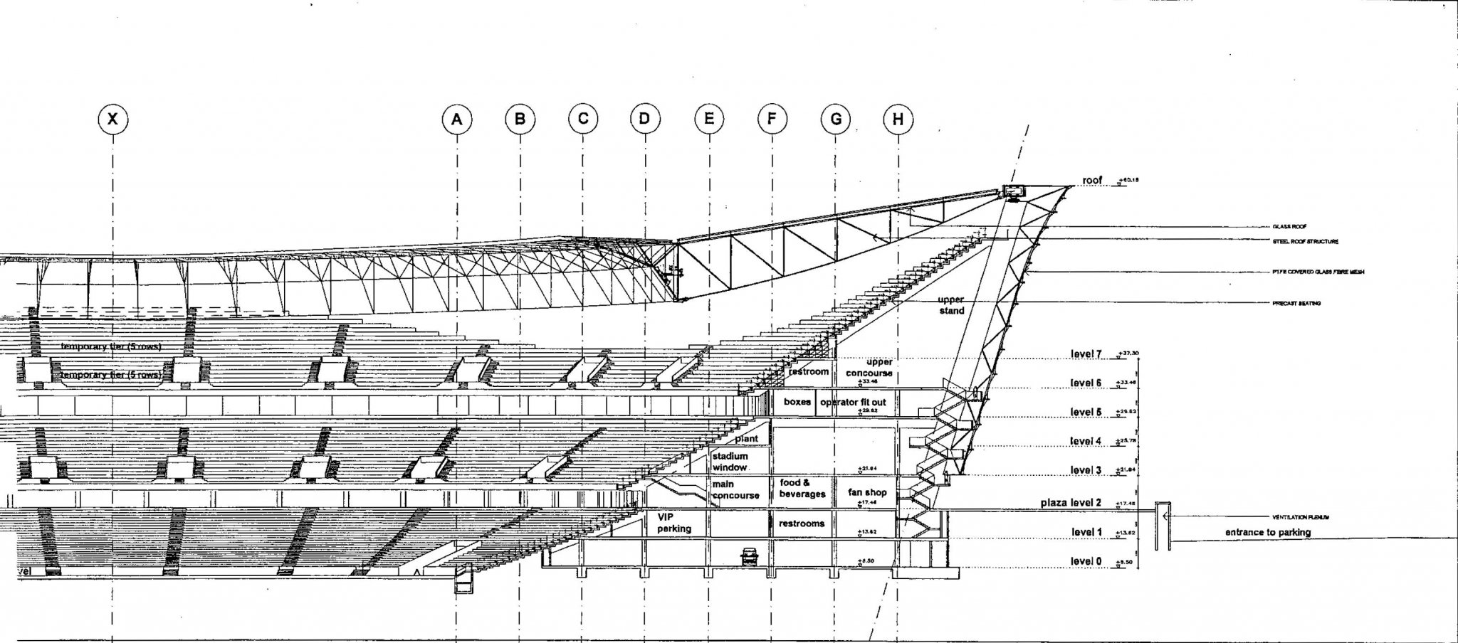 sections of green point-stadium
