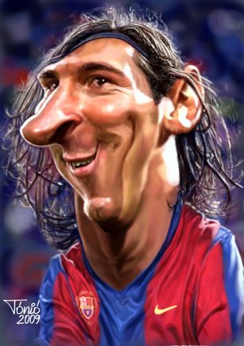 messi caricature