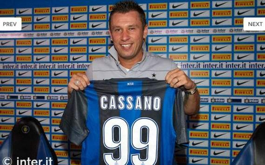 Antonio Cassano Inter Milan from AC Milan