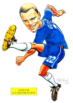 gud johnsen Caricature