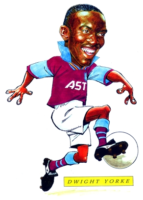 Dwight Yorke Caricature
