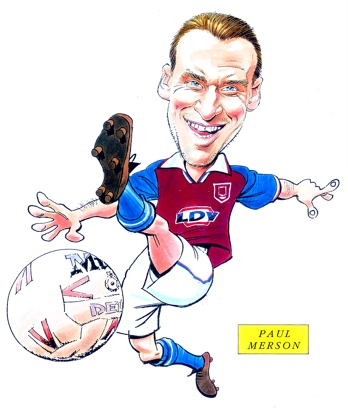 Paul Merson Caricature