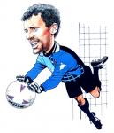 Tim Flowers Caricature